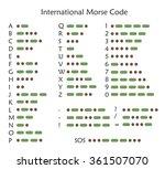 international morse code  vector | Shutterstock .eps vector #361507070