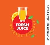 logo of fresh juice | Shutterstock .eps vector #361514198