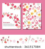 floral summer templates. for...   Shutterstock .eps vector #361517084
