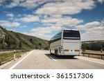 a white coach  or long haul bus ... | Shutterstock . vector #361517306