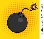 cartoon bomb with fire pop art... | Shutterstock .eps vector #361520600