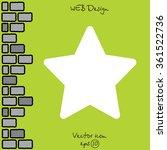 web line icon. star  favorit  | Shutterstock .eps vector #361522736