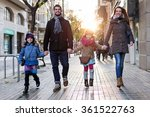 portrait of happy young family... | Shutterstock . vector #361522763