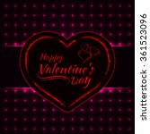 happy valentines day pink... | Shutterstock . vector #361523096
