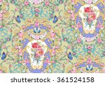 seamless composition with roses ... | Shutterstock . vector #361524158