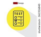 line checkmark icon | Shutterstock .eps vector #361526840