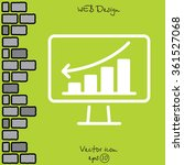 web line icon. monitor with... | Shutterstock .eps vector #361527068