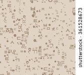 seamless pattern with korean... | Shutterstock .eps vector #361528673