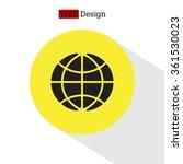 globe icon. globe symbol. flat... | Shutterstock .eps vector #361530023