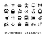set of transport icons ready... | Shutterstock .eps vector #361536494