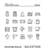 hotel  accommodation   room... | Shutterstock .eps vector #361537430
