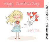 happy valentine's day card with ... | Shutterstock .eps vector #361538264