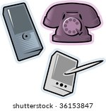 objects  phone  mobile ... | Shutterstock .eps vector #36153847