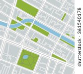 city map. vector illustration  | Shutterstock .eps vector #361540178
