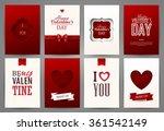 valentine cards set. vector... | Shutterstock .eps vector #361542149