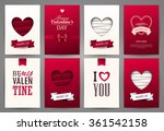 valentine cards set. vector... | Shutterstock .eps vector #361542158