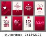 valentine cards set. vector... | Shutterstock .eps vector #361542173
