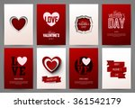 valentine cards set. vector... | Shutterstock .eps vector #361542179
