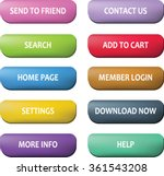 website button set   vector... | Shutterstock .eps vector #361543208