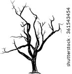 tree   bare tree  tree silhoutte | Shutterstock .eps vector #361543454