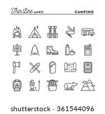 camping  hiking  wilderness ... | Shutterstock .eps vector #361544096