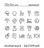 restaurant  phone ordering ... | Shutterstock .eps vector #361549160