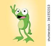 Frog Cartoon Vector Illustration