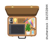 suitcase designer  set of... | Shutterstock .eps vector #361552844