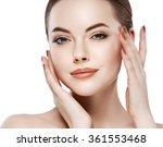 beautiful woman face close up... | Shutterstock . vector #361553468