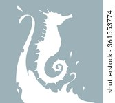 seahorse silhouette. vector  | Shutterstock .eps vector #361553774