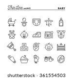 baby  pregnancy  birth  toys... | Shutterstock .eps vector #361554503