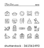 pets  thin line icons set ... | Shutterstock .eps vector #361561493