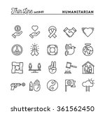 humanitarian  peace  justice ... | Shutterstock .eps vector #361562450