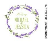 Single Lavender Wreath.
