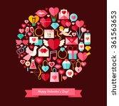 vector flat style happy... | Shutterstock .eps vector #361563653
