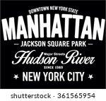 new york typography  t shirt...   Shutterstock .eps vector #361565954