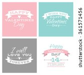 vector valentines day cute... | Shutterstock .eps vector #361571456