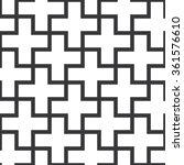 seamless black and white... | Shutterstock .eps vector #361576610