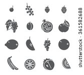 fruits. set of black icons. ... | Shutterstock .eps vector #361582688