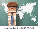 world map and unusual teacher | Shutterstock . vector #361585844