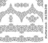 ethnic seamless pattern borders ... | Shutterstock .eps vector #361586348