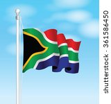 south africa national flag | Shutterstock .eps vector #361586450