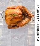 baked chicken in the baking... | Shutterstock . vector #361588484