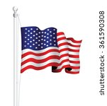 usa national flag | Shutterstock .eps vector #361590308