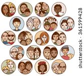hand drawn images of families ... | Shutterstock .eps vector #361599428
