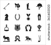 horse icons set. | Shutterstock .eps vector #361602020