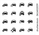 car icons set.  | Shutterstock .eps vector #361602059