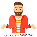 confused man shrugging his... | Shutterstock .eps vector #361602866