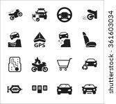 car icons set.  | Shutterstock .eps vector #361603034