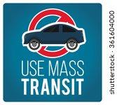 use mass transit illustration... | Shutterstock .eps vector #361604000